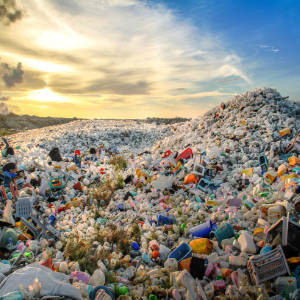water pollution facts, mountain of plastic waste