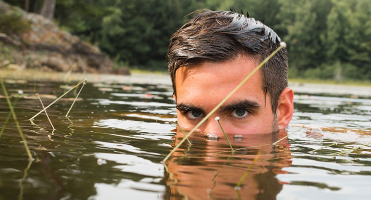 Ways Sustainable Living Future, Man Swimming In Nature