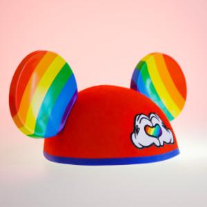 Disney rainbow mouse ears hat