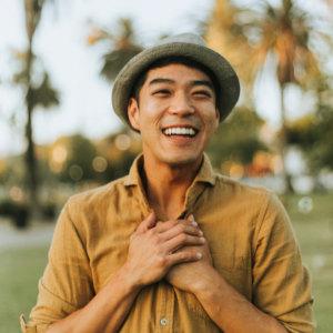 joyful man, self-care activities